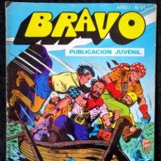 Tebeos: BRAVO AÑO I - Nº 51 - EL CACHORRO 26 - EL TESORO ESCONDIDO - 12 PTAS. - BRUGUERA 1976. Lote 220441010