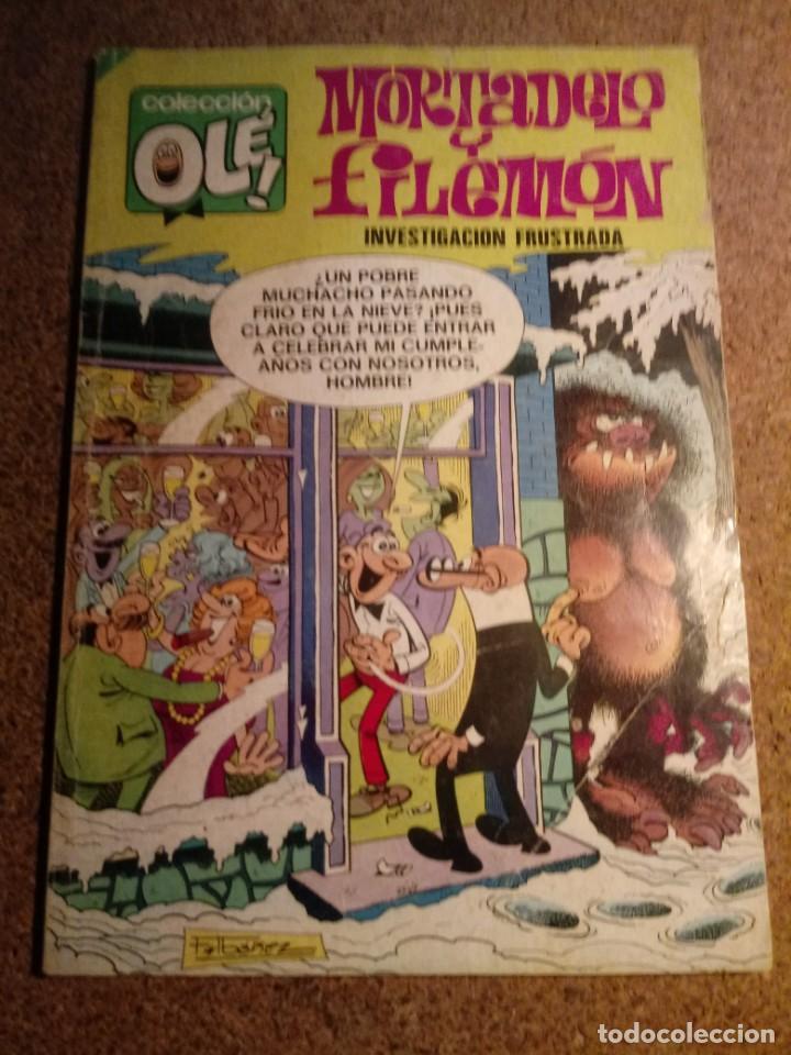 COMIC DE OLE MORTADELO Y FILEMÓN EN INVESTIGACIÓN FRUSTRADA DEL AÑO 1980 Nº 111 (Tebeos y Comics - Bruguera - Ole)
