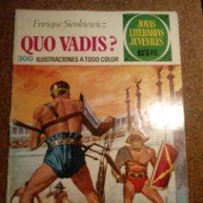 Tebeos: COMIC DE JOYAS LITERARIAS JUVENILES QUO VADIS AÑO 1972 Nº 14. Lote 220500908