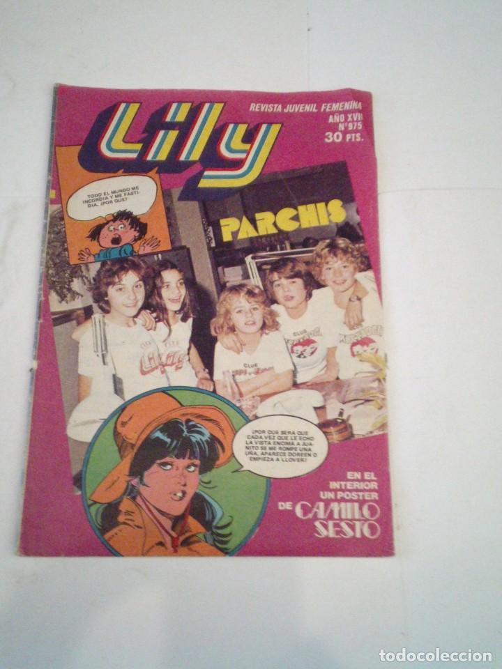 LILY - AÑO XVII - NUMERO 975 - CON POSTER DE CAMILO SESTO - ED BRUGUERA - CJ 123 - GORBAUD (Tebeos y Comics - Bruguera - Lily)