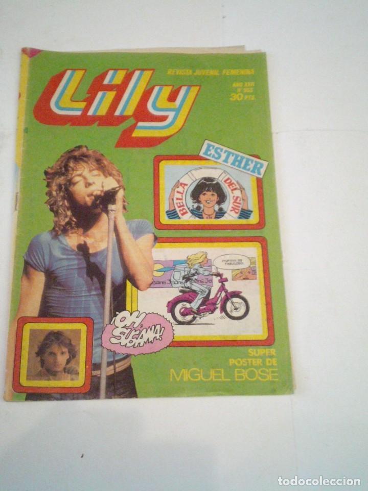 LILY - AÑO XVII - NUMERO 953 - CON POSTER DE MIGUEL BOSE - ED BRUGUERA - CJ 123 - GORBAUD (Tebeos y Comics - Bruguera - Lily)