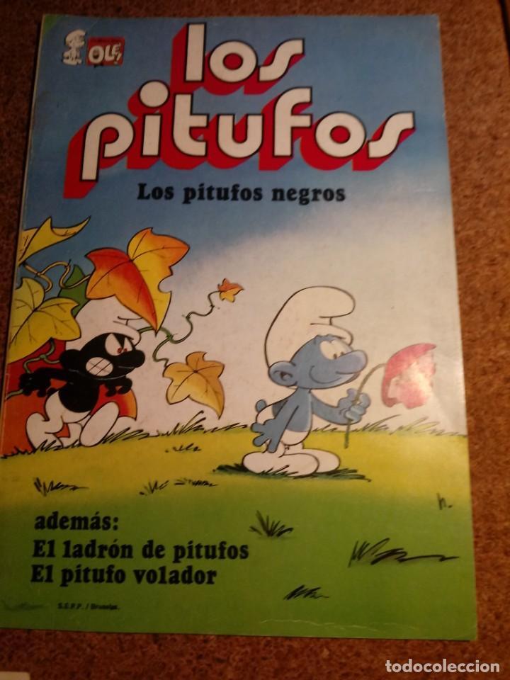 COMIC DE OLE LOS PITUFOS EN LOS PITUFOS NEGROS DEL AÑO 1982 Nº 2 (Tebeos y Comics - Bruguera - Ole)