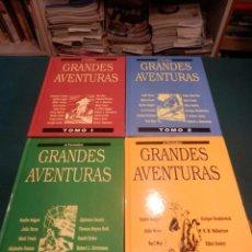 Tebeos: GRANDES AVENTURAS - ENCUADERNADA COMPLETA 4 TOMOS - JOYAS LITERARIAS - EL PERIÓDICO. Lote 220545781
