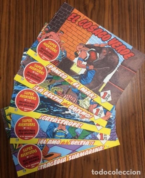 EL COSACO VERDE - LOTE 5 NUMEROS Nº 25, 26, 27, 28, 29. ED. BRUGERA. (Tebeos y Comics - Bruguera - Cosaco Verde)