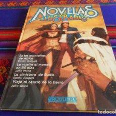 Tebeos: NOVELAS ILUSTRADAS NºS 7 Y 9 CON JOYAS LITERARIAS JUVENILES 248 LA MINA . BRUGUERA 1984 1ª EDICIÓN.. Lote 112251775