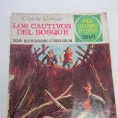 Tebeos: LOS CAUTIVOS DEL BOSQUE DE CAPITAN MARRYAT- JOYAS LITERARIAS JUVENILES Nº 132 - BRUGUERA CX73. Lote 220784223