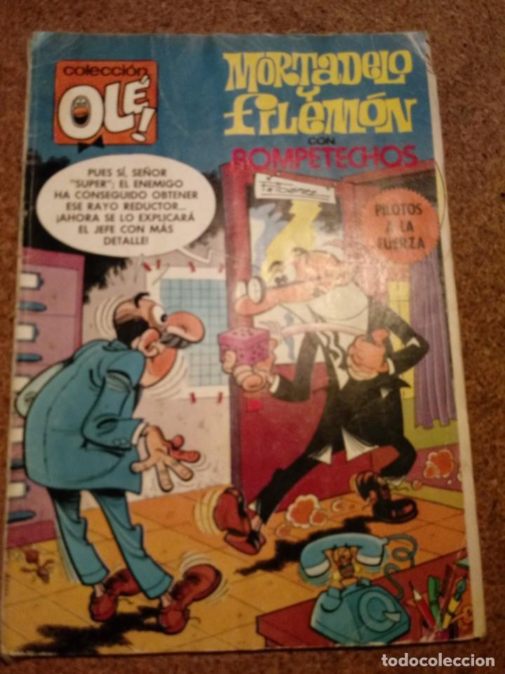 COMIC DE OLE MORTADELO Y FILEMON CON ROMPETECHOS EN PILOTOS A LA FUERZA AÑO 1985 Nº 191 (Tebeos y Comics - Bruguera - Ole)