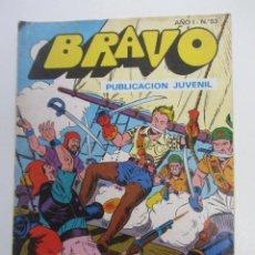 Tebeos: BRAVO - Nº 53 -EL CACHORRO - Nº 27 -1976-´¡EL CAPITÁN BATÁN BRUGUERA 1976 CX73. Lote 220984025