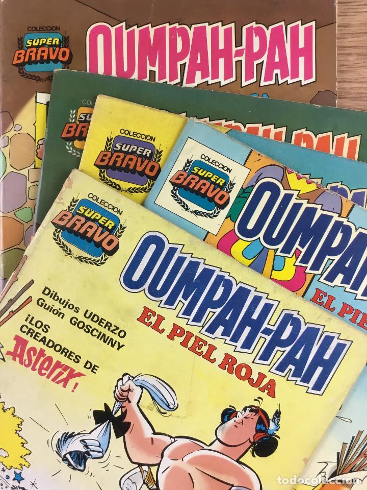 OUMPAH-PAH EL PIEL ROJA - COLECCIÓN COMPLETA 5 NÚMEROS DIBUJOS UDERZO GUIÓN GOSCINNY (Tebeos y Comics - Bruguera - Bravo)