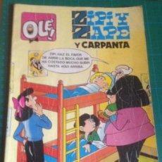 Tebeos: ZIPI Y ZAPE Y CARPANTA - INCLUYE HISTORIA CORTA Y DISCRETA DEL GENIO DE LA HISTORIETA DE F. IBAÑEZ. Lote 221377187