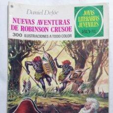 Tebeos: JOYAS LITERARIAS JUVENILES, NUEVAS AVENTURAS DE ROBINSON GRUSO, Nº 165, EDICIONES BRUGUERA, AÑO 1978. Lote 221454687