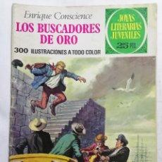 Tebeos: JOYAS LITERARIAS JUVENILES, LOS BUSCADORES DE ORO , Nº 99, EDICIONES BRUGUERA, AÑO 1977. Lote 221454937