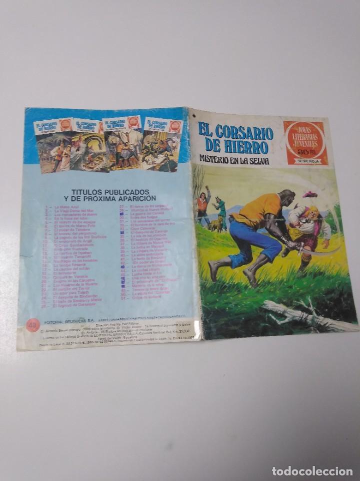 Tebeos: El Corsario de Hierro número 48 Joyas Literarias Juveniles 1 Edición 1978 Editorial Bruguera - Foto 3 - 221492517