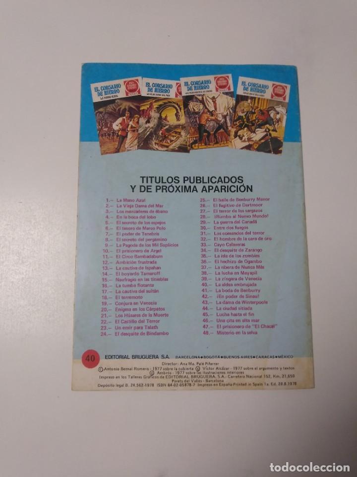 Tebeos: El Corsario de Hierro número 40 Joyas Literarias Juveniles 1 Edición 1978 Editorial Bruguera - Foto 2 - 221497112