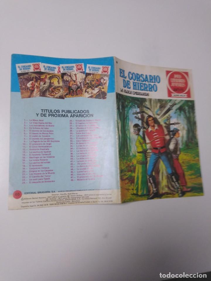 Tebeos: El Corsario de Hierro número 40 Joyas Literarias Juveniles 1 Edición 1978 Editorial Bruguera - Foto 3 - 221497112