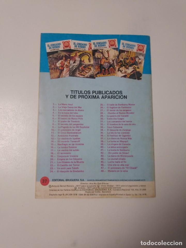 Tebeos: El Corsario de Hierro número 37 Joyas Literarias Juveniles 1 Edición 1978 Editorial Bruguera - Foto 2 - 221498001