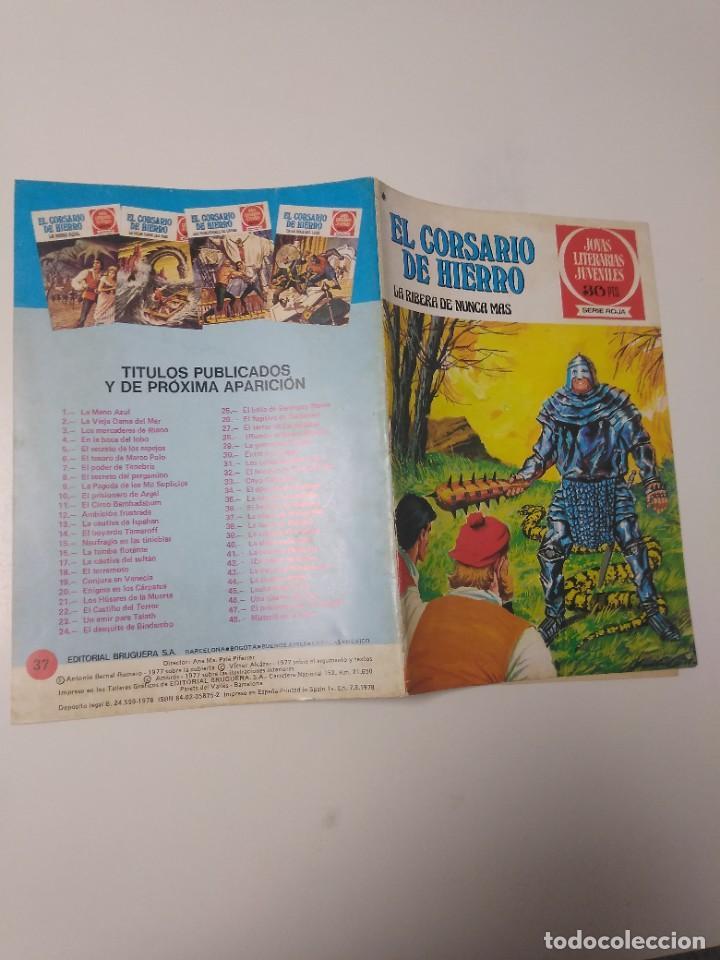 Tebeos: El Corsario de Hierro número 37 Joyas Literarias Juveniles 1 Edición 1978 Editorial Bruguera - Foto 3 - 221498001