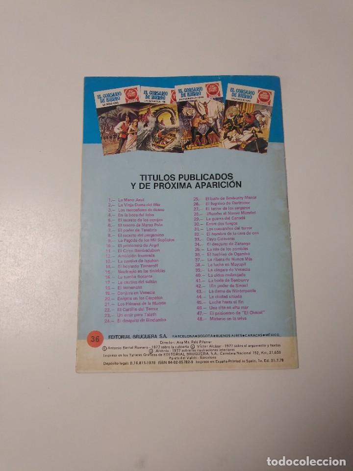Tebeos: El Corsario de Hierro número 36 Joyas Literarias Juveniles 1 Edición 1978 Editorial Bruguera - Foto 2 - 221498516