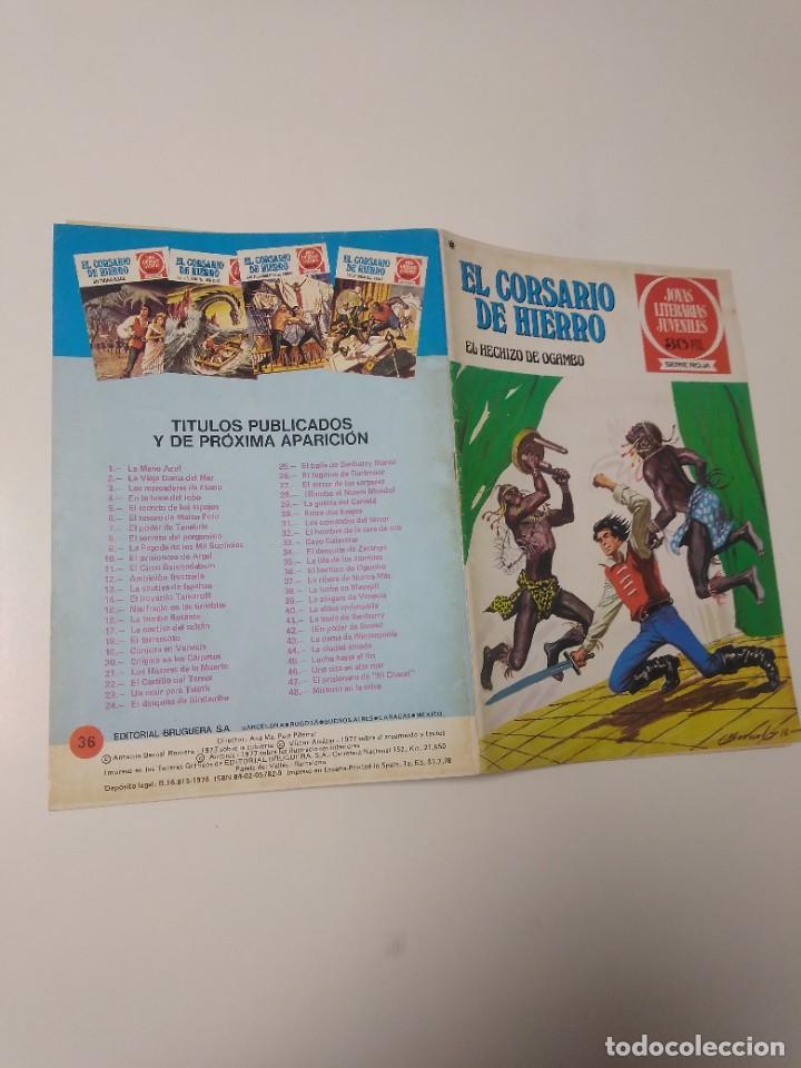 Tebeos: El Corsario de Hierro número 36 Joyas Literarias Juveniles 1 Edición 1978 Editorial Bruguera - Foto 3 - 221498516