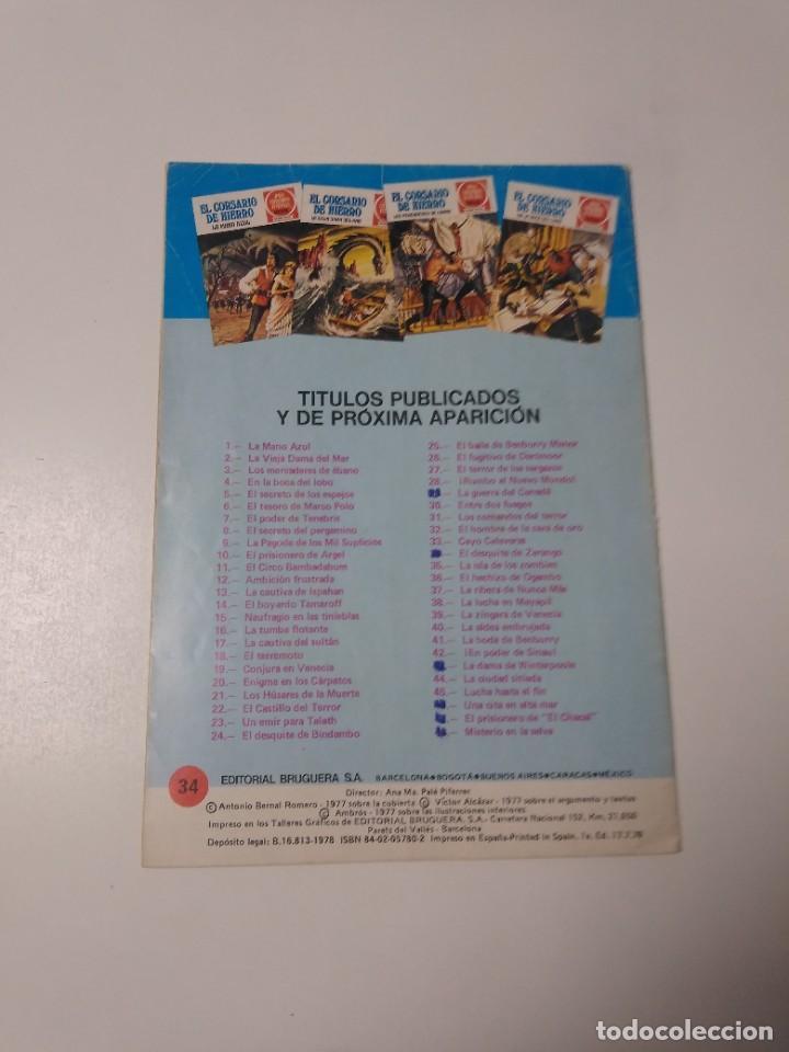 Tebeos: El Corsario de Hierro número 34 Joyas Literarias Juveniles 1 Edición 1978 Editorial Bruguera - Foto 2 - 221499001