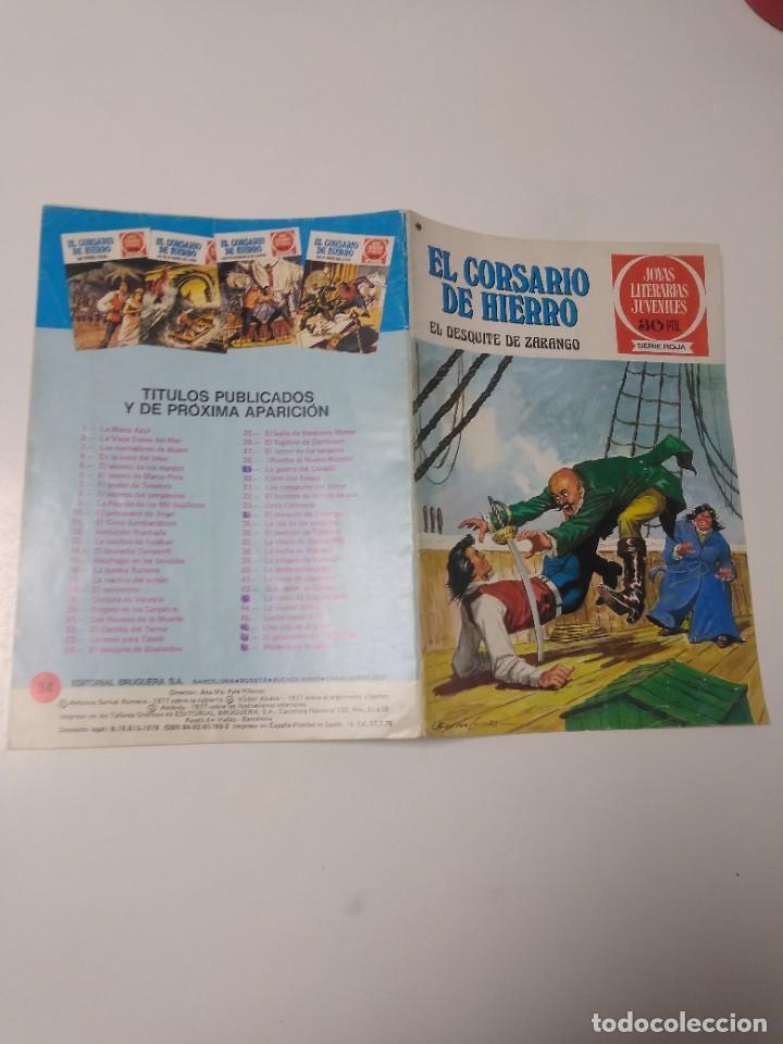 Tebeos: El Corsario de Hierro número 34 Joyas Literarias Juveniles 1 Edición 1978 Editorial Bruguera - Foto 3 - 221499001