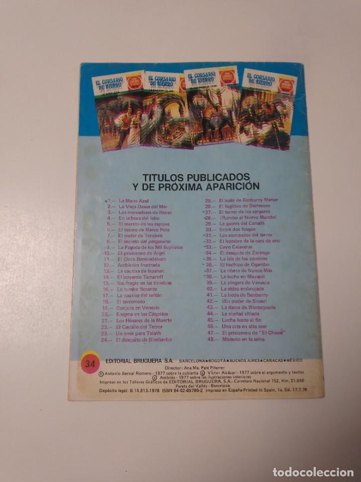 Tebeos: El Corsario de Hierro número 34 Joyas Literarias Juveniles 1 Edición 1978 Editorial Bruguera - Foto 2 - 221499713