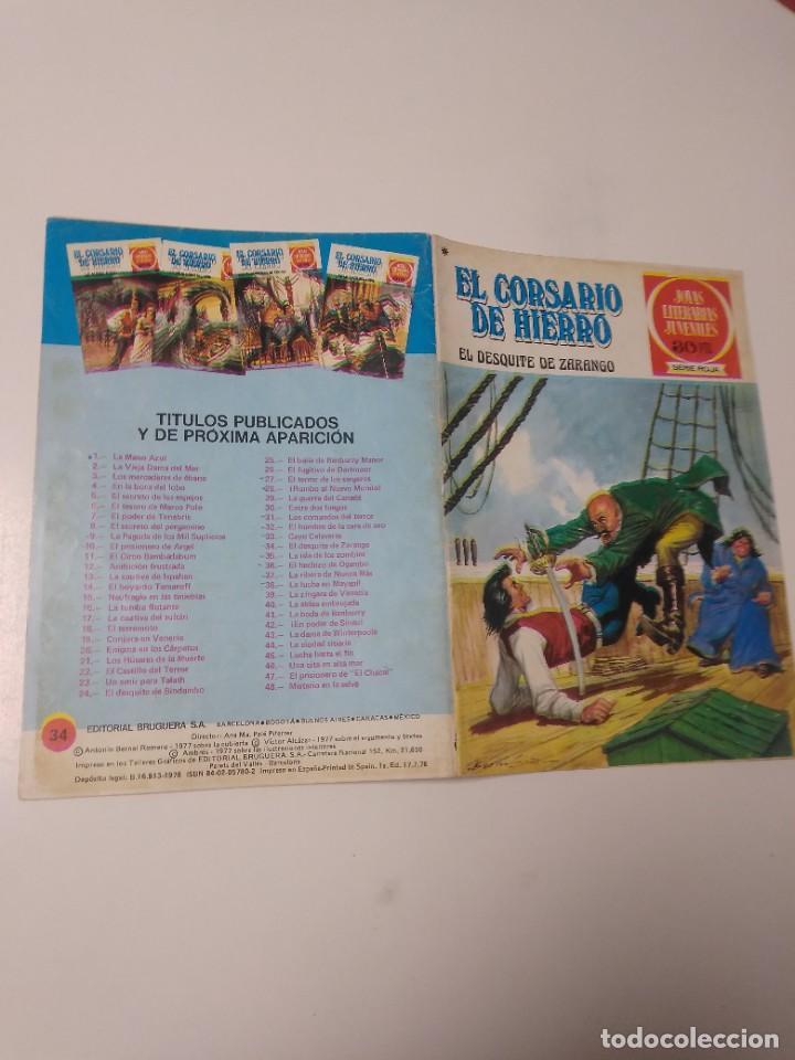Tebeos: El Corsario de Hierro número 34 Joyas Literarias Juveniles 1 Edición 1978 Editorial Bruguera - Foto 3 - 221499713