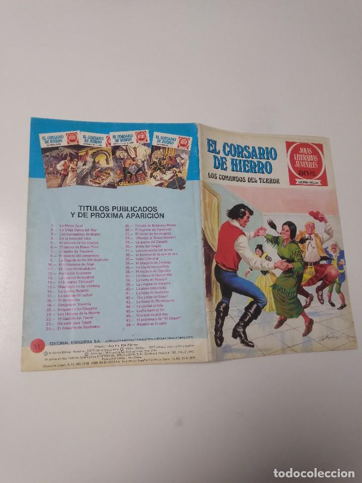 Tebeos: El Corsario de Hierro número 31 Joyas Literarias Juveniles 1 Edición 1978 Editorial Bruguera - Foto 3 - 221500732
