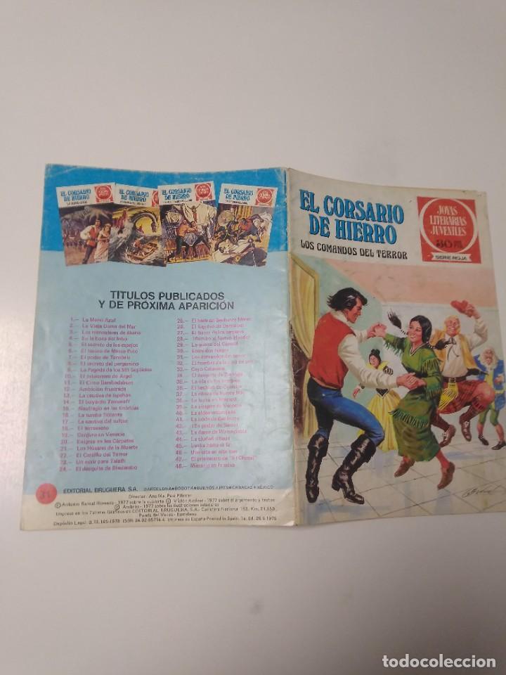 Tebeos: El Corsario de Hierro número 31 Joyas Literarias Juveniles 1 Edición 1978 Editorial Bruguera - Foto 3 - 221501296