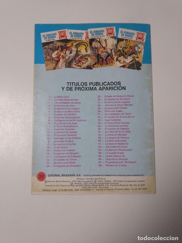 Tebeos: El Corsario de Hierro número 28 Joyas Literarias Juveniles 1 Edición 1978 Editorial Bruguera - Foto 2 - 221501763