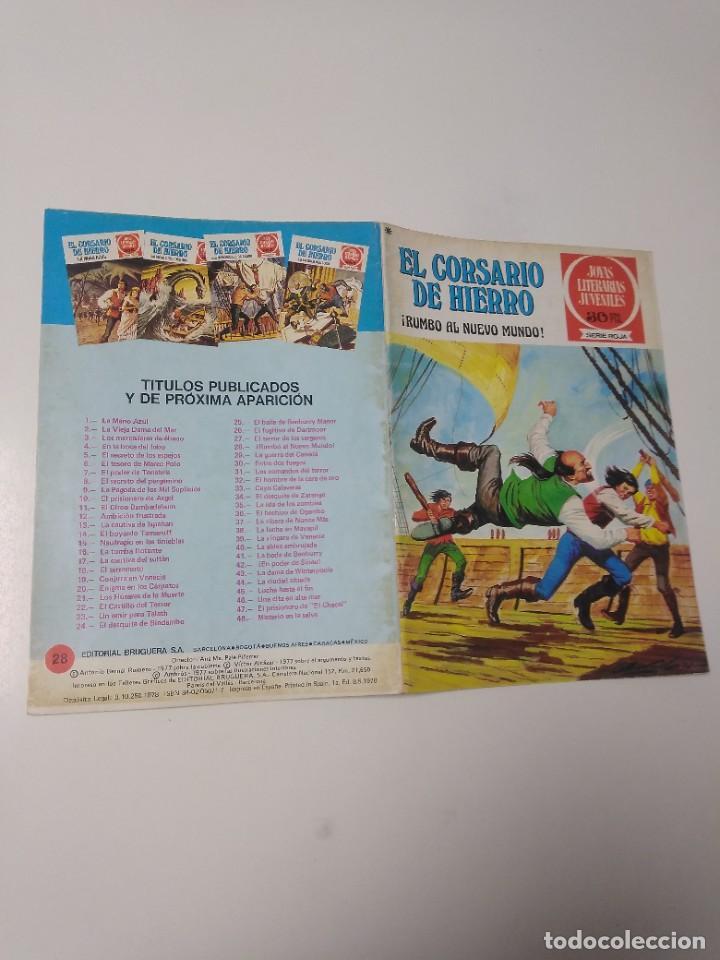 Tebeos: El Corsario de Hierro número 28 Joyas Literarias Juveniles 1 Edición 1978 Editorial Bruguera - Foto 3 - 221501763