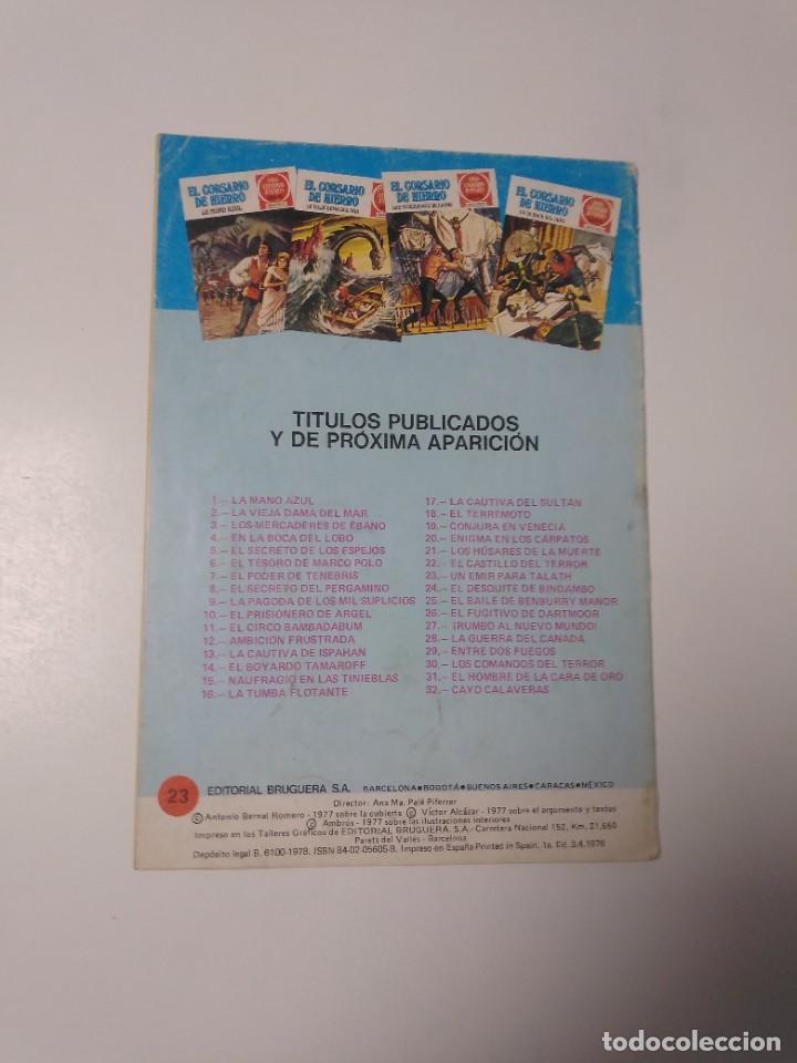 Tebeos: El Corsario de Hierro número 23 Joyas Literarias Juveniles 1 Edición 1978 Editorial Bruguera - Foto 2 - 221503030