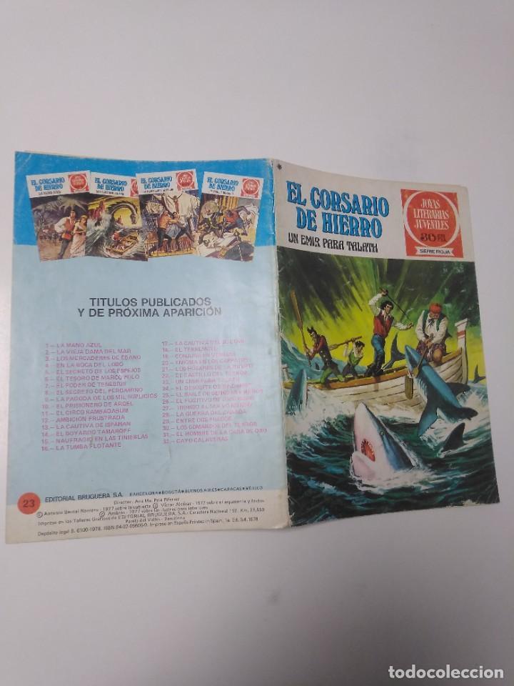 Tebeos: El Corsario de Hierro número 23 Joyas Literarias Juveniles 1 Edición 1978 Editorial Bruguera - Foto 3 - 221503030
