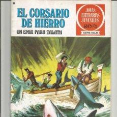 Tebeos: EL CORSARIO DE HIERRO JOYAS LITERARIAS JUVENILES SERIE ROJA Nº 23 EDITORIAL BRUGUERA. Lote 221527775