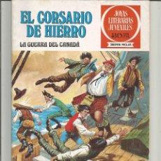 Tebeos: EL CORSARIO DE HIERRO JOYAS LITERARIAS JUVENILES SERIE ROJA Nº 29 EDITORIAL BRUGUERA. Lote 221529385