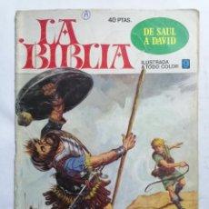 Tebeos: LA BIBLIA - DE SAUL A DAVID , Nº 9, EDICIONES BRUGUERA, 1978. Lote 221562226