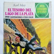 Tebeos: JOYAS LITERARIAS JUVENILES, EL TESORO DEL LAGO DE LA PLATA, Nº 55, EDICIONES BRUGUERA, 1977. Lote 221562621