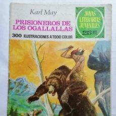 Tebeos: JOYAS LITERARIAS JUVENILES, PRISIONEROS DE LOS OGALLALLAS, Nº 163, EDICIONES BRUGUERA, 1976. Lote 221562880
