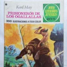 Tebeos: JOYAS LITERARIAS JUVENILES, PRISIONEROS DE LOS OGALLALLAS, Nº 163, EDICIONES BRUGUERA, 1976. Lote 221563042