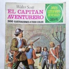 Tebeos: JOYAS LITERARIAS JUVENILES, EL CAPITAN AVENTURERO, Nº 74, EDICIONES BRUGUERA, 1976. Lote 221563165