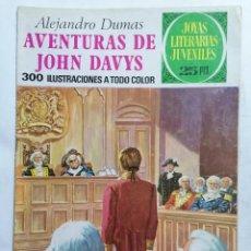 Tebeos: JOYAS LITERARIAS JUVENILES, AVENTURAS DE JOHN DAVYS, Nº 77, EDICIONES BRUGUERA, 1976. Lote 221563218
