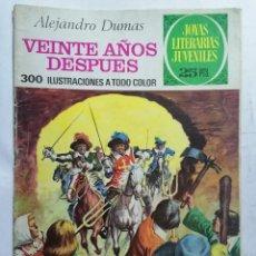 Tebeos: JOYAS LITERARIAS JUVENILES, VEINTE AÑOS DESPUES, Nº 97, EDICIONES BRUGUERA, 1976. Lote 221563311