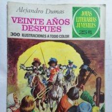 Tebeos: JOYAS LITERARIAS JUVENILES, VEINTE AÑOS DESPUES, Nº 97, EDICIONES BRUGUERA, 1976. Lote 221563337