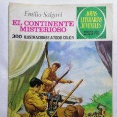 Tebeos: JOYAS LITERARIAS JUVENILES, EL CONTINENTE MISTERIOSO, Nº 174, EDICIONES BRUGUERA, 1977. Lote 221564012