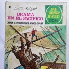 Tebeos: JOYAS LITERARIAS JUVENILES, DRAMA EN EL PACIFICO, Nº 162, EDICIONES BRUGUERA, 1976. Lote 221564526