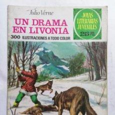 Tebeos: JOYAS LITERARIAS JUVENILES, UN DRAMA EN LIVONIA, Nº 161, EDICIONES BRUGUERA, 1976. Lote 221565840