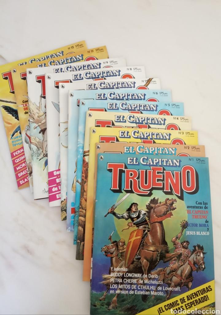 LOTE DE DOCE CÓMICS DE AVENTURAS RECOPILACIÓN CAPITÁN TRUENO V OTRAS (Tebeos y Comics - Bruguera - Historias Selección)