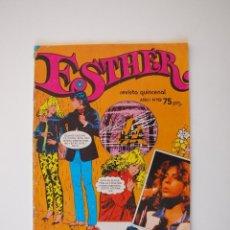 Tebeos: ESTHER - REVISTA QUINCENAL - AÑO I Nº 19 - BRUGUERA 1982 - PÓSTER DE LEIF GARRETT. Lote 221591281
