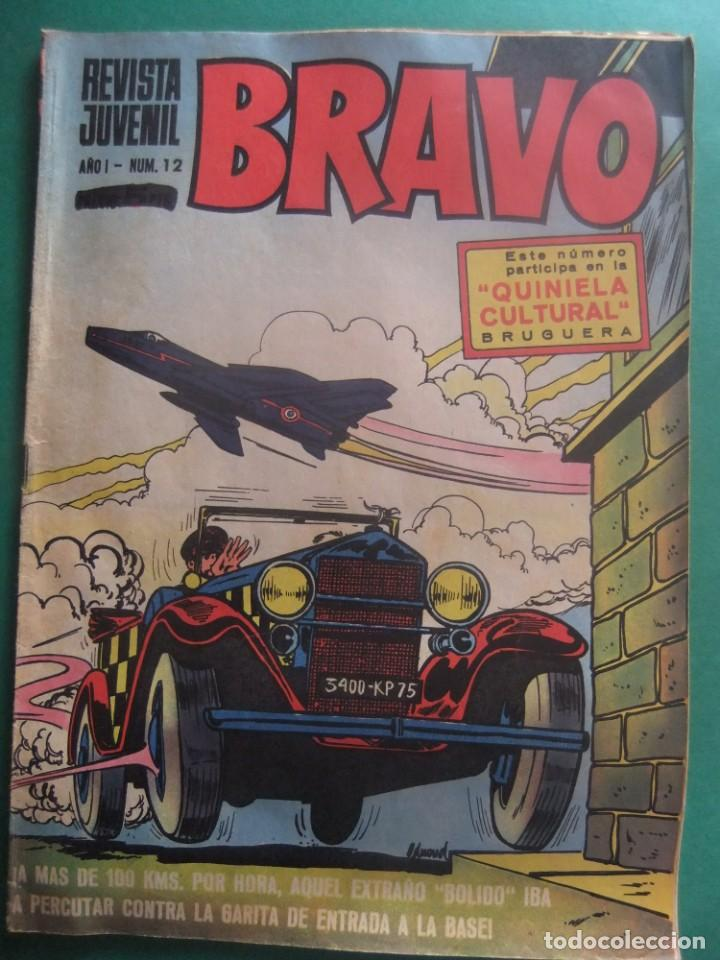 REVISTA BRAVO Nº 12 EDITORIAL BRUGUERA (Tebeos y Comics - Bruguera - Bravo)