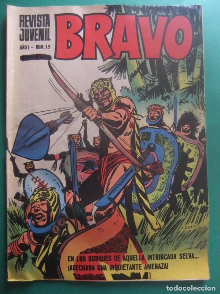 REVISTA BRAVO Nº 15 EDITORIAL BRUGUERA (Tebeos y Comics - Bruguera - Bravo)